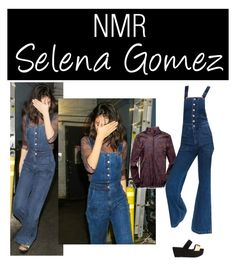 """""""Outfit #653"""" by nmr135 ❤ liked on Polyvore featuring StreetStyle, denim, selenagomez, overalls and nmr"""