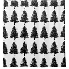 hipster shower curtain vintage tree forest pattern - home gifts ideas decor special unique custom individual customized individualized