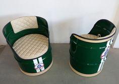 Neue Seite Drum Chair, Barris, Oil Barrel, 55 Gallon Drum, Barrel Furniture, Oil Drum, Automotive Furniture, Cool Diy, Cool Things To Make