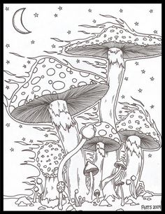 Best trippy art drawing hippie coloring pages ideas - Art Drawings Psychedelic Drawings, Trippy Drawings, Pencil Art Drawings, Abstract Drawings, Art Drawings Sketches, Colorful Drawings, Pencil Sketching, Drawing Faces, Realistic Drawings