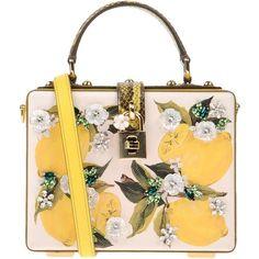 Dolce & Gabbana Handbag ($2,350) ❤ liked on Polyvore featuring bags, handbags, white, dolce gabbana handbags, floral print handbags, white hand bags, mini hand bags and animal purse