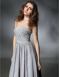 A-line Sweetheart Sweep/Brush Train Chiffon Evening Dress inspired by Selena Gomez at Emmy Awards - USD $ 195.99