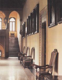 Grazzano Visconti Castle - First Floor Landing - The World of Interiors June 2013