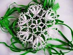 Handmade tatting doily white  wedding Lace Coasters   by ShopGift