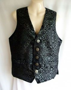 Medusa print waistcoat in black over dark silver £48.00 http://gothic.dresstobedifferent.com/store/products/category/male-clothing/