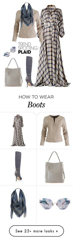 """""""outfit 7545"""" by natalyag on Polyvore featuring White House Black Market, Sylvia Alexander, Samma, contestentry and NYFWPlaid"""