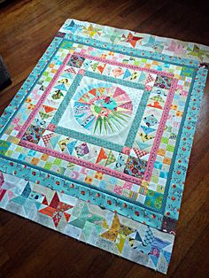 Modern Quilt Guild of Ireland medallion along