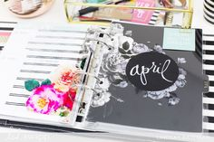 Memory Planner Monthly Reset for April I for Elizabeth Craft Designs, Heidi Swapp, Monthly Planner, Project Life, Planners, Free Printables, Journaling, Memories, Projects