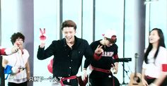 Sehun's cute victory dance… I love it to see him smile like that