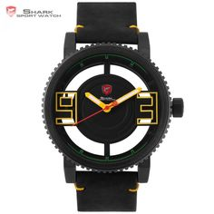 Cheap watches ultra, Buy Quality gift gifts directly from China watch watch Suppliers: Megamouth Shark Sport Watch Ultra 3 D Transparent Hollow Dial Gearwheel Bezel Leather Man Military Sport Wristwatch Gift / Simple Watches, Cool Watches, Watches For Men, Wrist Watches, Shark Watches, Army Watches, Megamouth Shark, Watch Gift Box, Mens Sport Watches