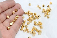 Golden Spike, Jewellery Making Materials, Metal Beads, Jewelry Findings, 50th, Plating, Charms, Ebay, Color