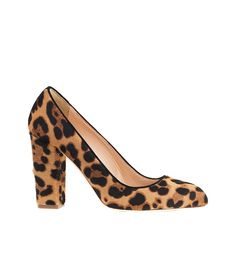 02e18ec59d0 J.Crew Collection Stella Calf Hair Pumps in Hazelnut Leopard    The block  heel