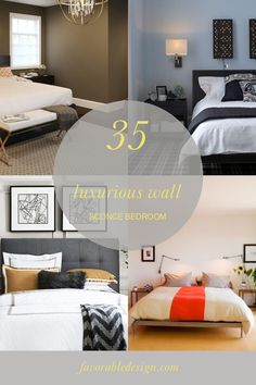 35 Luxurious Wall Sconce Bedroom #wall #sconce #bedroom #BedroomIdeas #wallsconc...