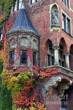 Autumn in Hamburg, Germany.