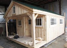 Check out this bunk house building from Jamaica Cottage Shop! This bunk house kit can be ordered fully assembled and it's available in various sizes. Tiny House Cabin, Tiny House Plans, Tiny House On Wheels, Tiny Houses, Cabin Homes, Cabin Plans, Shed Plans, Barn Windows, Shed With Loft