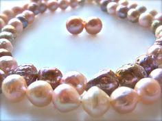 #Japanese Freshwater Pearls  from Lake Kasumigaura