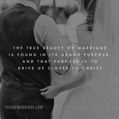 """""""The true beauty of marriage is found in its grand purpose, and that purpose is to drive us closer to christ. Fierce Marriage, Godly Marriage, Save My Marriage, Marriage Relationship, Happy Marriage, Marriage Advice, Love And Marriage, Marriage Quotes From The Bible, Godly Dating"""