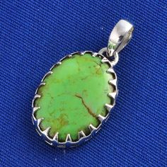 MOHAVE TURQUOISE 925 SOLID STERLING SILVER PENDANT JEWELLERY 3.62g P1256 #Handmade #Pendant
