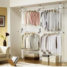 One Touch Double 2 Tier Adjustable Hanger | Clothing Rack | Closet Organizer PRINCE HANGER,http://www.amazon.com/dp/B00C02E23W/ref=cm_sw_r_pi_dp_MYFHtb0523BN8JA9