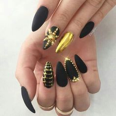 Matte black and Gold