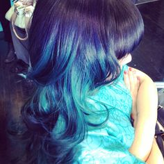 Blue and teal #colormelt #ombre