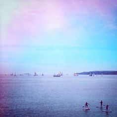 #FalmouthWeek #Gylly #beach #Cornwall #boats #paddleboarding