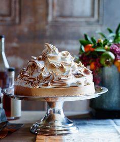Sweet Potato Cheesecake with Marshmallow Meringue