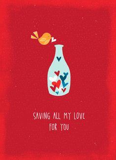 Saving Valentine Love Valentine's Day Card
