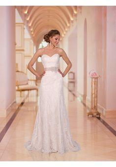 Stella York Style #5939 Sz.8 Lace with Diamante beading  Original Price $1,299 SA Price $850