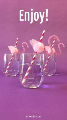 DIY Flamingo Straws
