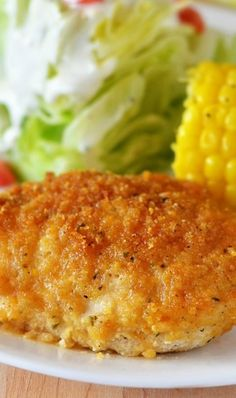 Ranch Chicken - good! I used Ritz crackers instead of corn flakes since I didn't have any corn flakes.