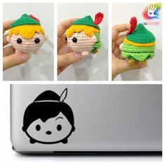 This pattern is available only in English language. For those who love cute things, Tsum Tsum Peter Pan amigurumi is at the perfect size to hold on your palm or attach on your bag to be your traveling companion. Format: PDF document of 9 pages with detailed instructions. Finished