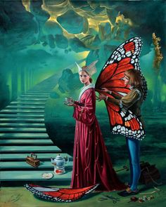 """""""Stairyway to Heaven"""" Art by Michael Cheval"""