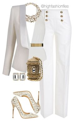 """Mature Sexy"" by highfashionfiles ❤ liked on Polyvore featuring moda, Emilio Pucci, MOEVA, Jenny Packham, Balmain, Jimmy Choo e House of Lavande"