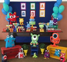 Little Monster Birthday, Monster 1st Birthdays, Monster Birthday Parties, First Birthdays, First Birthday Themes, Baby Boy First Birthday, Birthday Ideas, Monster Cupcakes, Little Monster Party