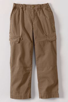 Boys' Iron Knee Pull-on Ripstop Pants from Lands' End