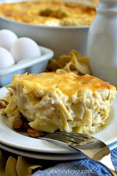 Noodle Kugel with Cream Cheese