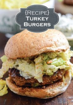 Slap some delicious Turkey Burgers on the grill and make this summer dinner recipe one you won't forget!