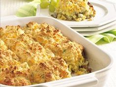 Sausage 'n Apple Cheddar Biscuit Bake recipe from Betty Crocker