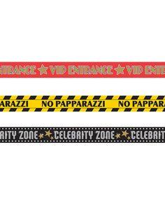 Hollywood Absperrband Party-Deko 3 Stück bunt 9m - Artikelnummer: 819460000