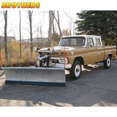 4x4 Friday! This is probably the rarest plow truck I have ever seen. It is a 64-66 GMC crewcab 4x4. Ultra cool!   #brotherstrucks #chevrolet #chevy #gmc #classic #vintage #classictruck #pickup #truck #c10 #c20 #k10 #k20 #automotive #restoration #4x4Friday #4x4 #4wd