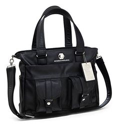 ThinkGeek Black Leather Deluxe Handbag of Holding - http://leather-handbags-shop.com/thinkgeek-black-leather-deluxe-handbag-of-holding/