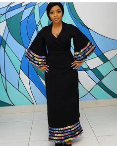 We loove black too. The sun is finally happy and here to stay! Out with the cold, in with the nice weather. Time to get ready to… African Fashion Designers, African Fashion Ankara, Latest African Fashion Dresses, African Print Fashion, Africa Fashion, Fashion Fashion, Fashion Outfits, African Attire, African Wear