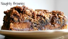 brownies stuffed with reese's peanut butter cups and bakes on a layer of chocolate chip cookie dough.