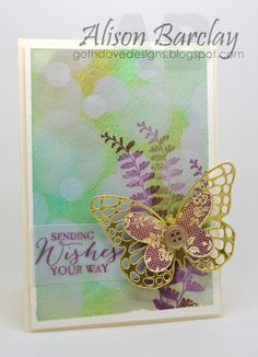 Gothdove Designs - Alison Barclay Stampin' Up! ® Australia : Stampin' Up! Australia - Color Coach Card #85 - Butterfly Basics