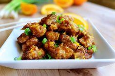 made this tonight. by far the easiest orange chicken. I never would have thought the batter would have worked, but it was super good! nomnomnom!
