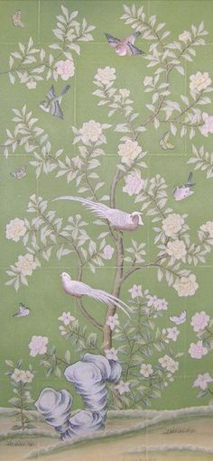 Image result for antique chinese silk wallpaper chinoiserie
