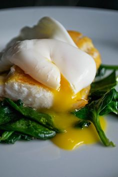 Poached Egg, Smoked Haddock and Spinach