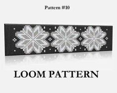 Seed Bead Loom Pattern 11 12  Two Color Palettes  Baltic by LoraMarMagicBeads | Etsy