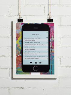 """Plakat personalizowany """"Best of muzyczny"""" 30x40 cm - BonzooBox - Plakaty typograficzne"""